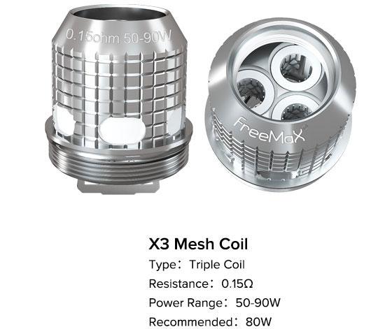 freemax fireluke m x3 mesh coils