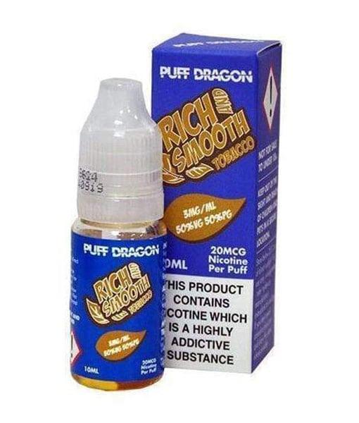 Rich and Smooth Tobacco - 10ml eLiquid by Puff Dragon